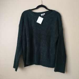 ASOS Oversize Boucle Sweater in Forest Green